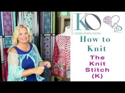 How to Knit the Knit Stitch Easy and Slow for Beginner Knitters