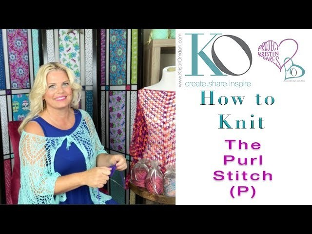 How to Knit the Purl Stitch Easy and Slow for Beginner Knitters