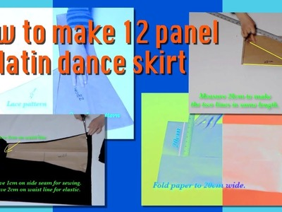 How to  make 12 panel dance skirt  video #34