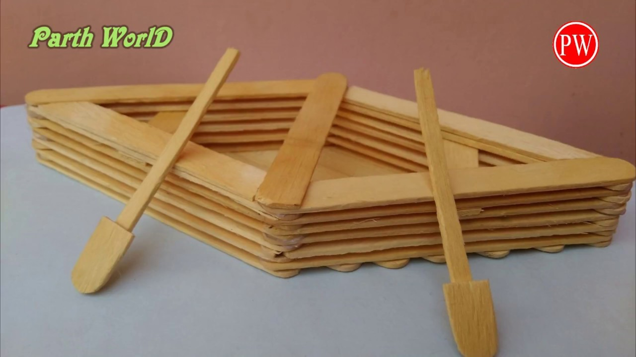 how to make a boat with popsicle sticks handmade diy