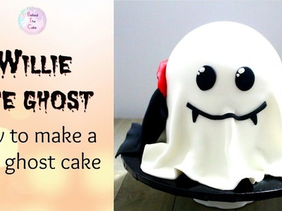 How to make a cute ghost cake : Halloween cakes tutorial