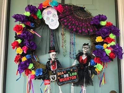 How to Make a Day of the Dead Wreath! (Dia de los Muertos)
