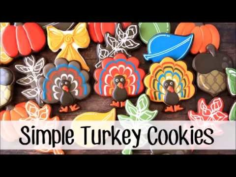 How to make a decorated TURKEY sugar cookies!!