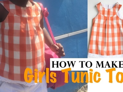 How to make a Girls Tunic with Yoke | Kitty Tunic by Frocks & Frolics