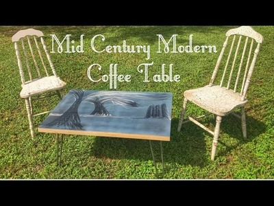 How to Make a Mid Century Modern Coffee Table | Stainless Steel | Woodworking DIY