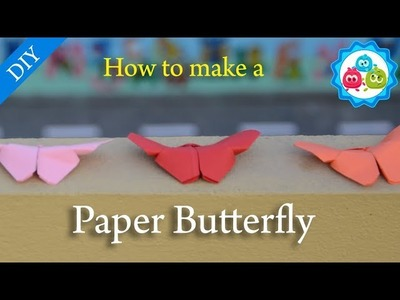 How to Make a Paper Butterfly Origami | Kids Crafts | Bubbly Dots Crafts