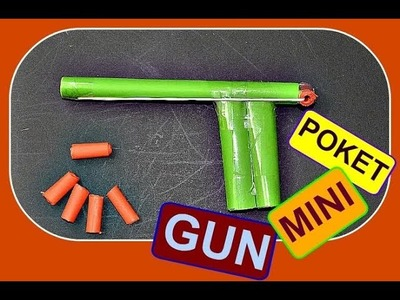 How to make a Paper Gun that Shoots Paper Bullets Easy for KIDS