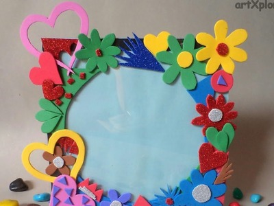 How to make a photo frame using waste cd and dvd