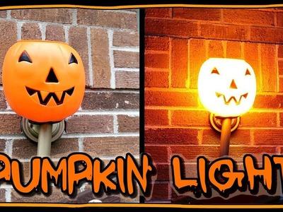 How To Make A Pumpkin Porch Light ???? | Halloween Ideas