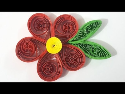 Quilling how to make paper quilling flower new 2017 how to make how to make a quilled flower paper quilling mightylinksfo