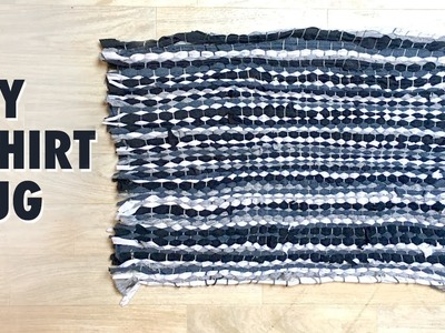 How to make a Rag Rug using T-shirts - Tshirt rug tutorial
