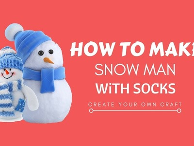 How to make a snowman with socks   DIY snowman   HOW TO MAKE