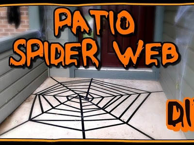 How To Make A Spider Web For Your Patio! | Halloween Ideas