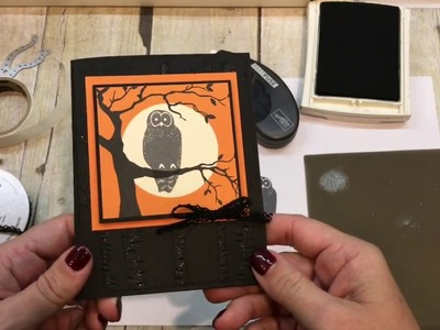 How to make a Spooky Cat Owl Card with several fun touches!