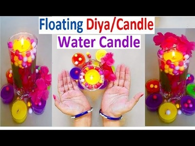 How to make a Water candle - Floating Diya & Candle Stand for Diwali & Christmas Decoration at home