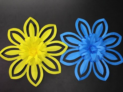 How to Make Amazing Origami Flower Using Color Paper