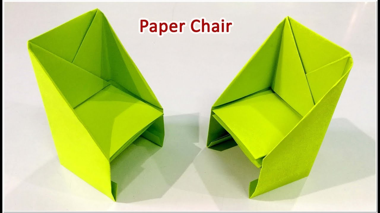 how to make an origami chair step by step paper chair