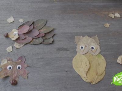 How to make animal leaf pictures