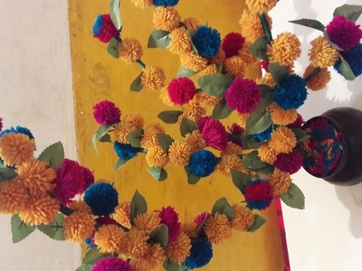 HOW TO MAKE ARTIFICIAL HAND MADE WOOLEN FLOWER TREE