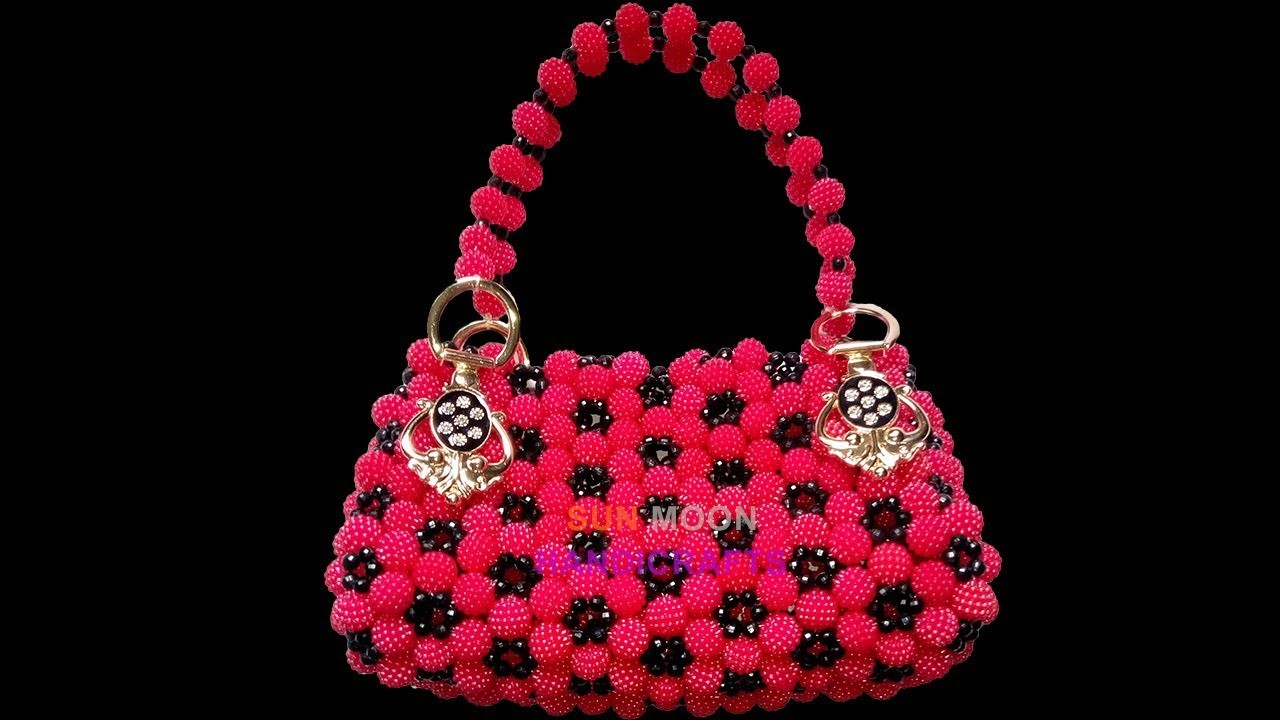 How to make beaded cosmetic bag. party bag(part-1).beaded bag, My ...