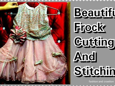 How To Make Beautiful Frock For Girls.Cutting and Stitching Step by Step.TUTORIAL VIDEO