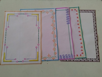 How to make beautiful page border design for school and college projects||easy page border tutorial7