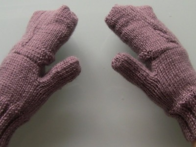 How to make convertible mittens - gloves tutorial part 5 ( add flip cups to your finger-less gloves)