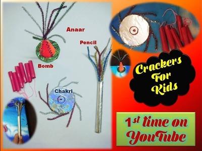 How to make crackers for kids. Diwali Cracker Crafts- Fuljhadi, Anaar, Lal Patake,Chakri