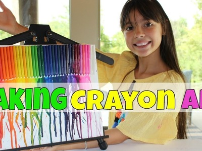 How to make Crayon Art with a blow dryer | simple crafts to try