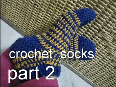 How to make crochet socks in hindi part - 2