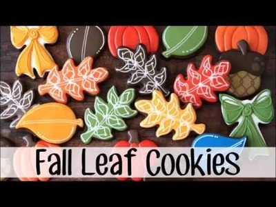 How to Make Decorated Fall Leaf Sugar Cookies.