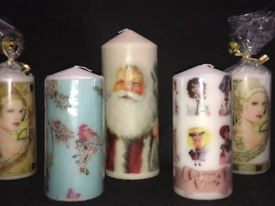 HOW TO MAKE: DECOUPAGE CANDLES USING OWN IMAGE