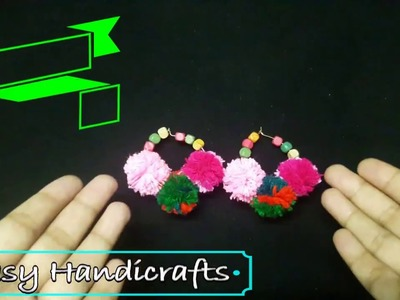 How To Make Earrings with pompom