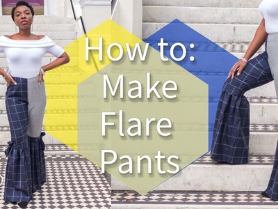 HOW TO: MAKE FLARE PANTS FOR WOMEN | KIM DAVE