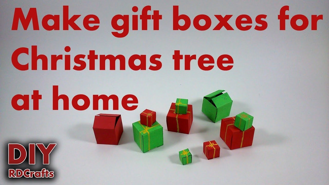 How to make gift boxes for Christmas tree at home | Ready in minutes