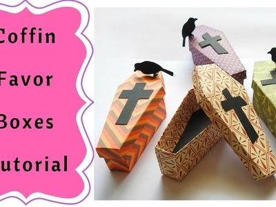 How to make Halloween Coffin Favor Boxes  Tutorial