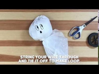 How to Make Halloween Garbage Bag Ghosts