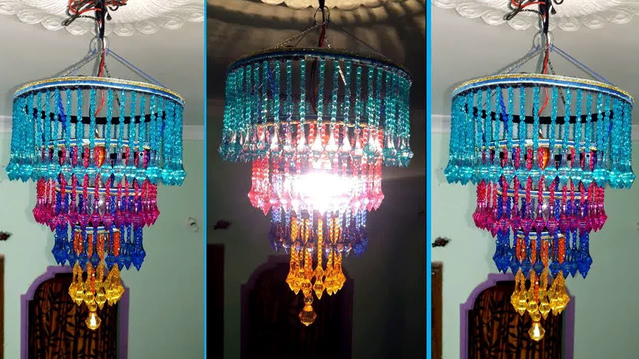 How to make jhumarandelier wall hanging decoration beaded how to make jhumarandelier wall hanging decoration beaded chandelier home decorating ideas aloadofball Choice Image