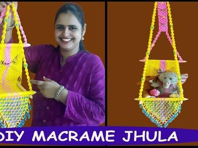 HOW TO MAKE Macrame Jhula Wall Hanging