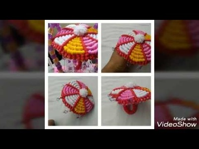 How to make macrame umbrella