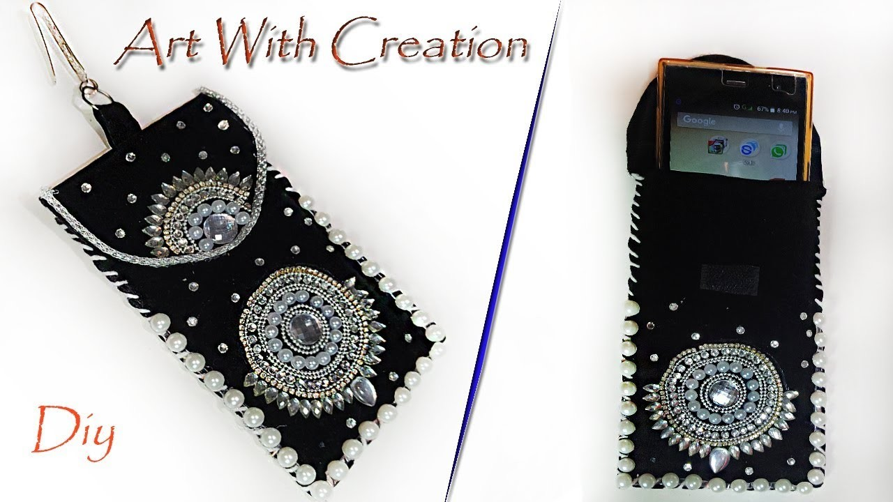 HOW TO MAKE MOBILE COVER FOR GIRLS |MAKE AT HOME|Art With Creation