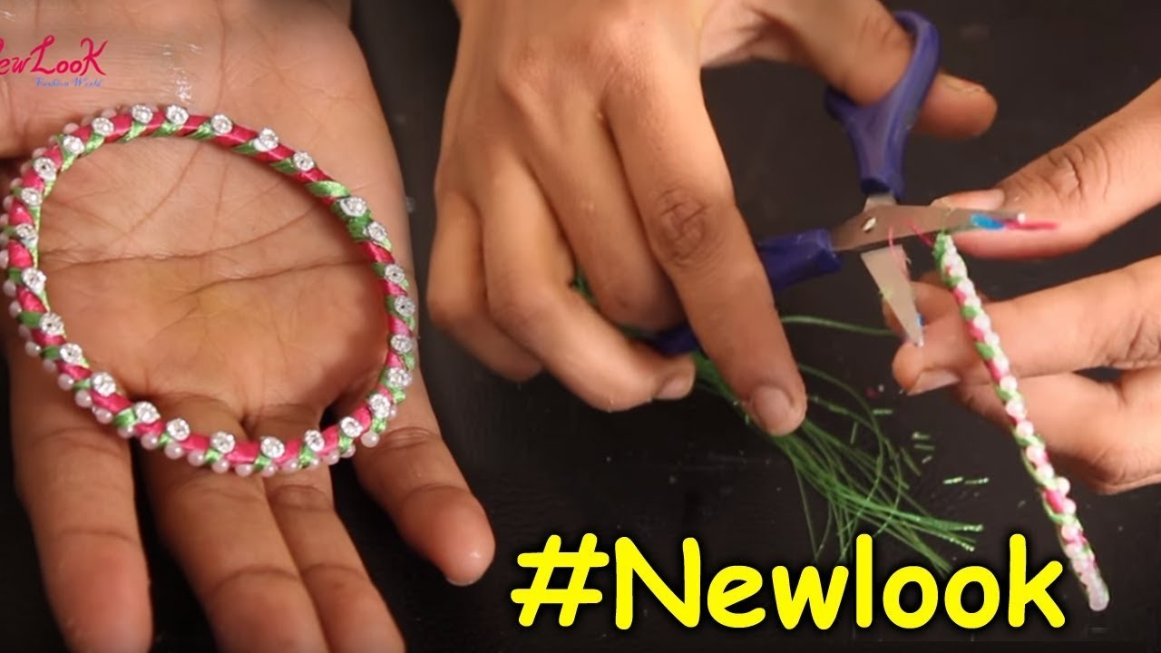 How to Make Multi Colour Silk Thread Bangles Designs at Home