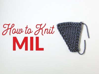 How to Make One Left-Leaning Stitch (M1L) in Knitting | Hands Occupied
