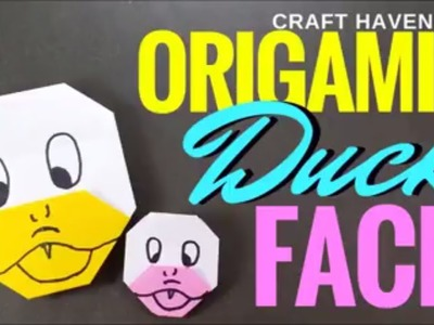How to Make Origami Duck Face - Easy Origami Duck Tutorial for Beginners - Cute Paper Duck