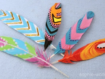 How to Make Painted Feathers | Sophie's World