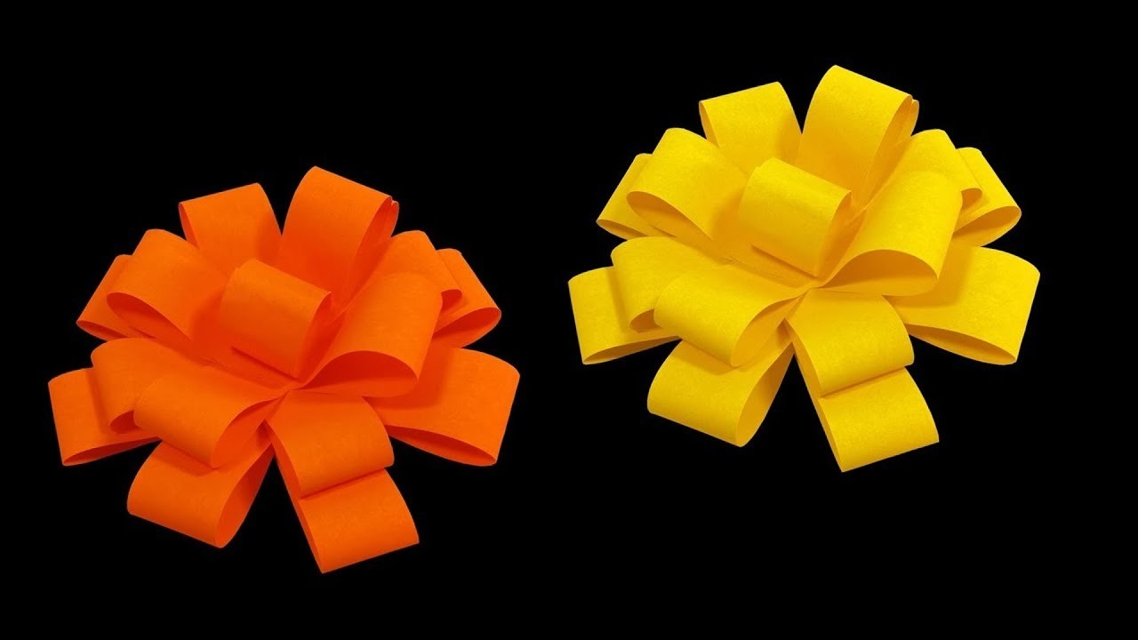 How To Make Paper Flower Bow Step By Step Easy Paper Bow Paper