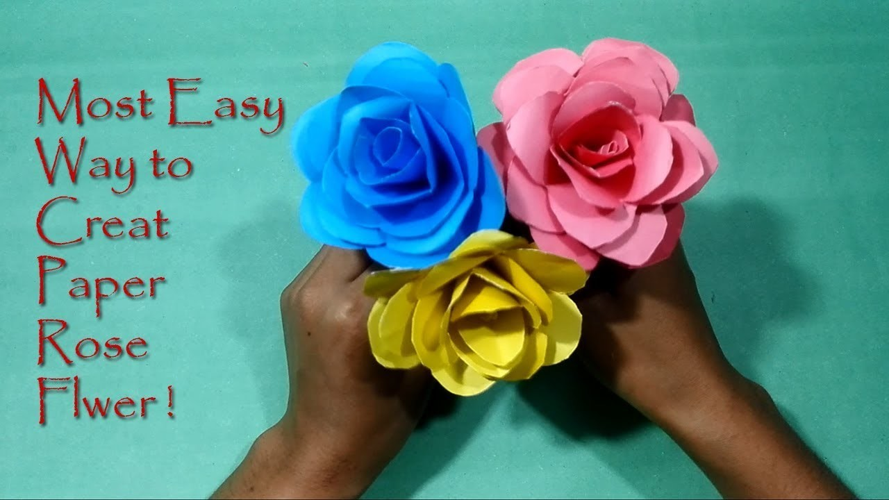 Very Easy and Simple to make Paper Rose Origami Rose