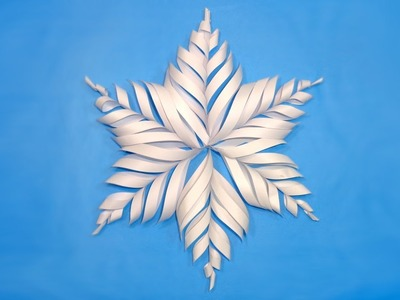 How To Make Paper Snowflake for Christmas Decorations - DIY 3D Christmas Crafts Tutorial.