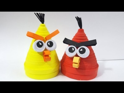 How to make quilling angry Birds very realistic 3D