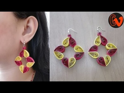 How to Make Quilling Earrings. Paper Quilling Earrings. Tutorial. Design 82
